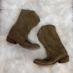 BRONX Leather Western Style Boots Size 9